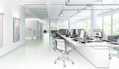 Büroeinrichtung 01 (Entwurf)