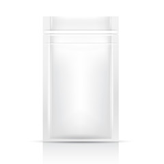White Blank Foil Packaging Template on White Background : Vector Illustration