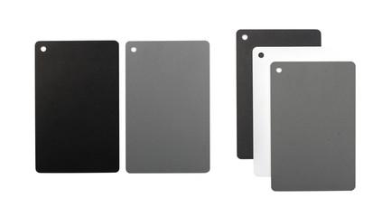 White balance cards