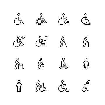 Disabled flat icon