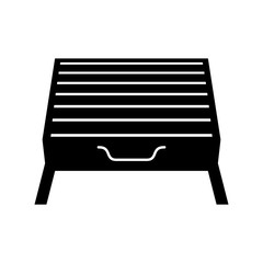 Barbecue tray grill, shade picture