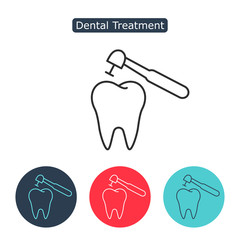 Treatment of tooth icon.