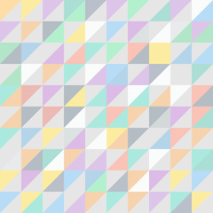 Pastel mosaic seamless background pattern vector design texture
