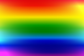 Rainbow colors paint background with glow effect