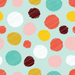 Polka dot. Colorful seamless pattern.