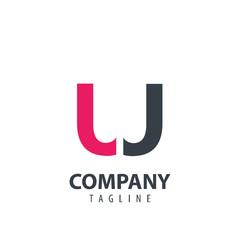 Initial Letter UJ Design Logo