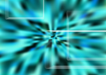 Abstract teal background whit design elements, turquoise gradient texture backdrop.