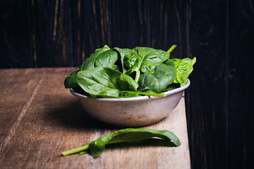 green fresh spinach