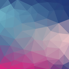 Light blue cool vector Low poly crystal background. Polygon design pattern. Low poly illustration background.
