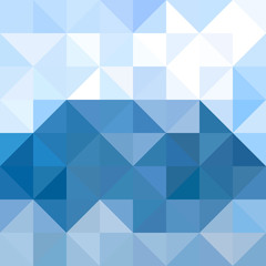 Abstract triangles pattern background. Water and Sky geometric background. Vector illustration