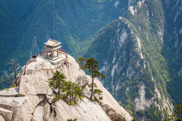 Spoed Foto op Canvas Xian China, Mount Huashan