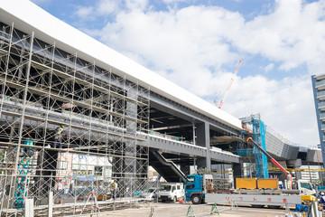 シーサイドライン延伸工事中の金沢八景駅 2017年11月