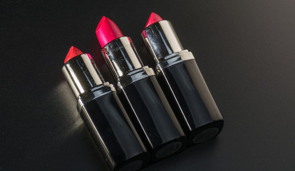 lipstick in different colors with special lighting