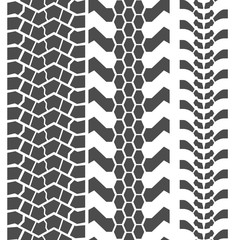 Extreme Mud Tyres Seamless Prints. Vector