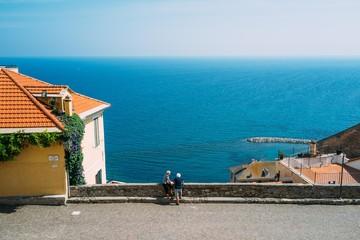 Summer in Cervo, Liguria, Italy