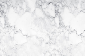 White marble texture with natural pattern for background.