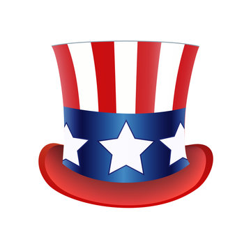American flag Hat Independence Day. Vector