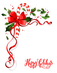 Holiday floral decoration
