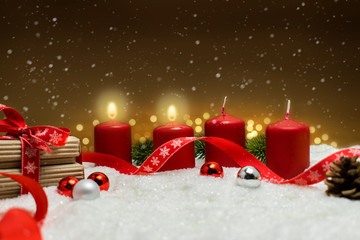 Zweiter Advent Weihnachten Hintergrund.
