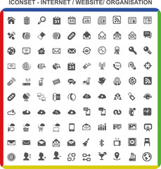 Iconset Piktogramme - Internet Website Organisation