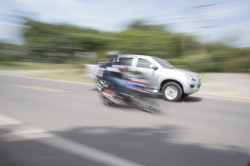 The car uses a blur speed