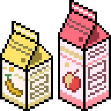 vector pixel art juice package