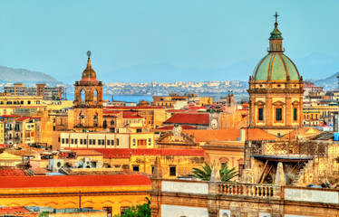 Photo sur Aluminium Palerme Palermo as seen from the roof of the Cathedral - Sicily