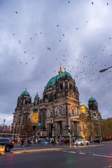 The Berlin Cathedral in Berlin at dawn, Germany