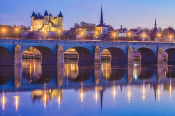 Saumur, château, église saint-Pierre, Pont Cessart