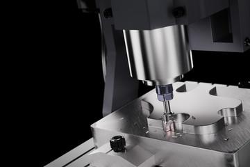 CNC Milling Machine. Industrial Concept. 3D illustration