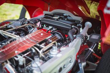 Jaguar engine bay