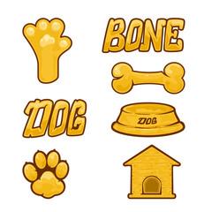 Gold dog icon