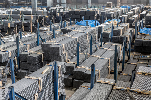 Storage Of New Metal Pipes For Furniture And Greenhouses