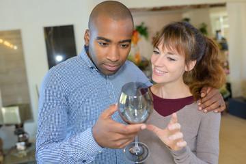 wine glass display