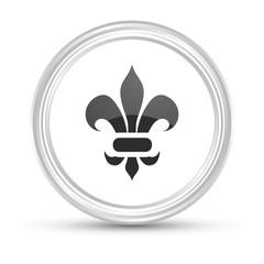 Weißer Button - Ornament