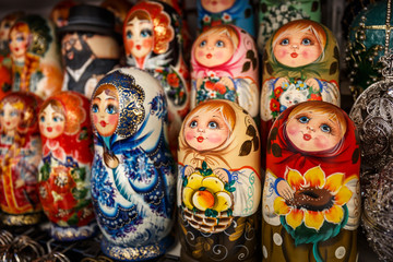 Matryoshka is a Russian wooden toy in the form of a painted doll