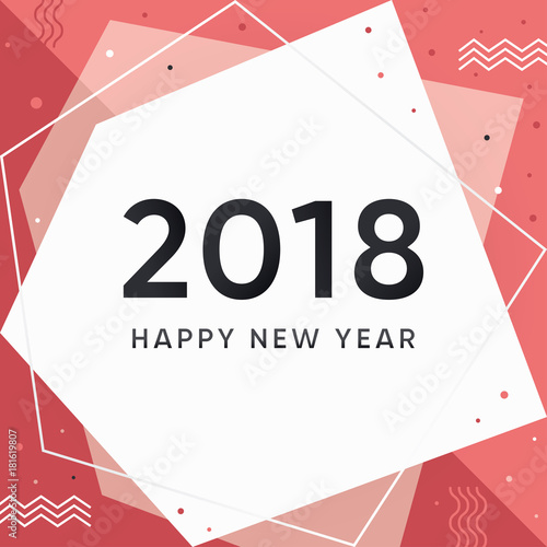 modern new year 2018 banner and card happy new year 2018 vector illustration