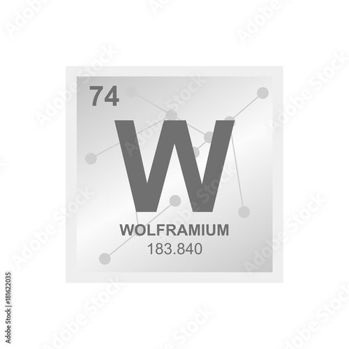 Vector symbol of tungsten from the periodic table of the elements vector symbol of tungsten from the periodic table of the elements on the background from connected urtaz Choice Image