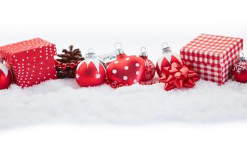Weihnachtsgeschenke und Dekoration zu Weihnachten