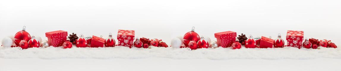 Hintergrund Banner zu Weihnachten mit Dekoration