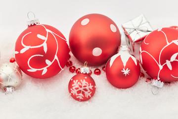 Weihnachten Hintergrund in rot