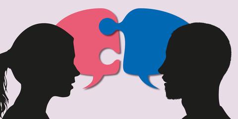 couple - discussion - mésentente - compréhension - différence - impossible - incompréhension