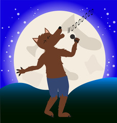 werewolf sings at moonlight