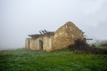 Ruin of a folk house