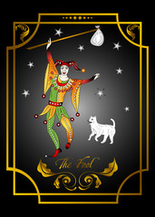 the illustration - card for tarot - the fool.