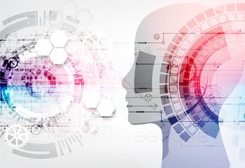 Creative brain concept background. Artificial Intelligence concept.