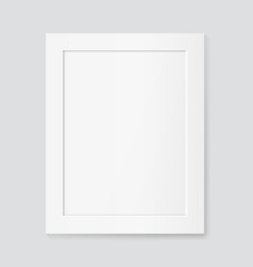 Realistic white frame. Vector mock up
