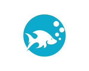 Fish logo design n template