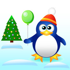 New Year. Penguin.