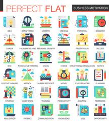 Vector Business motivation complex flat icon concept. Web infographic design icons.